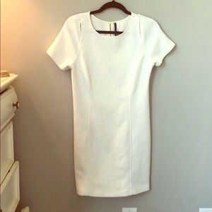 Kensie dress size M cream basketweave